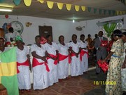 Praisers celebrating their praise day at Mt. Zion