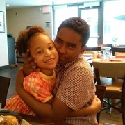 My daughter Saniya with her God-brother at Mother's Day 2015 Brunch