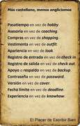 Mas castellano -  Menos anglisismos