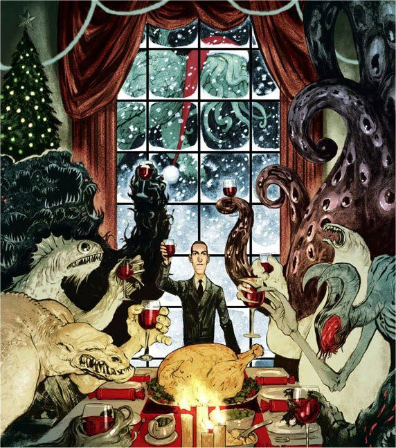 Cthulhu christmas with Lovecraft by Nelson Evergreen