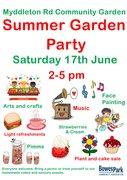 Myddleton Road Community Garden Summer Garden Party