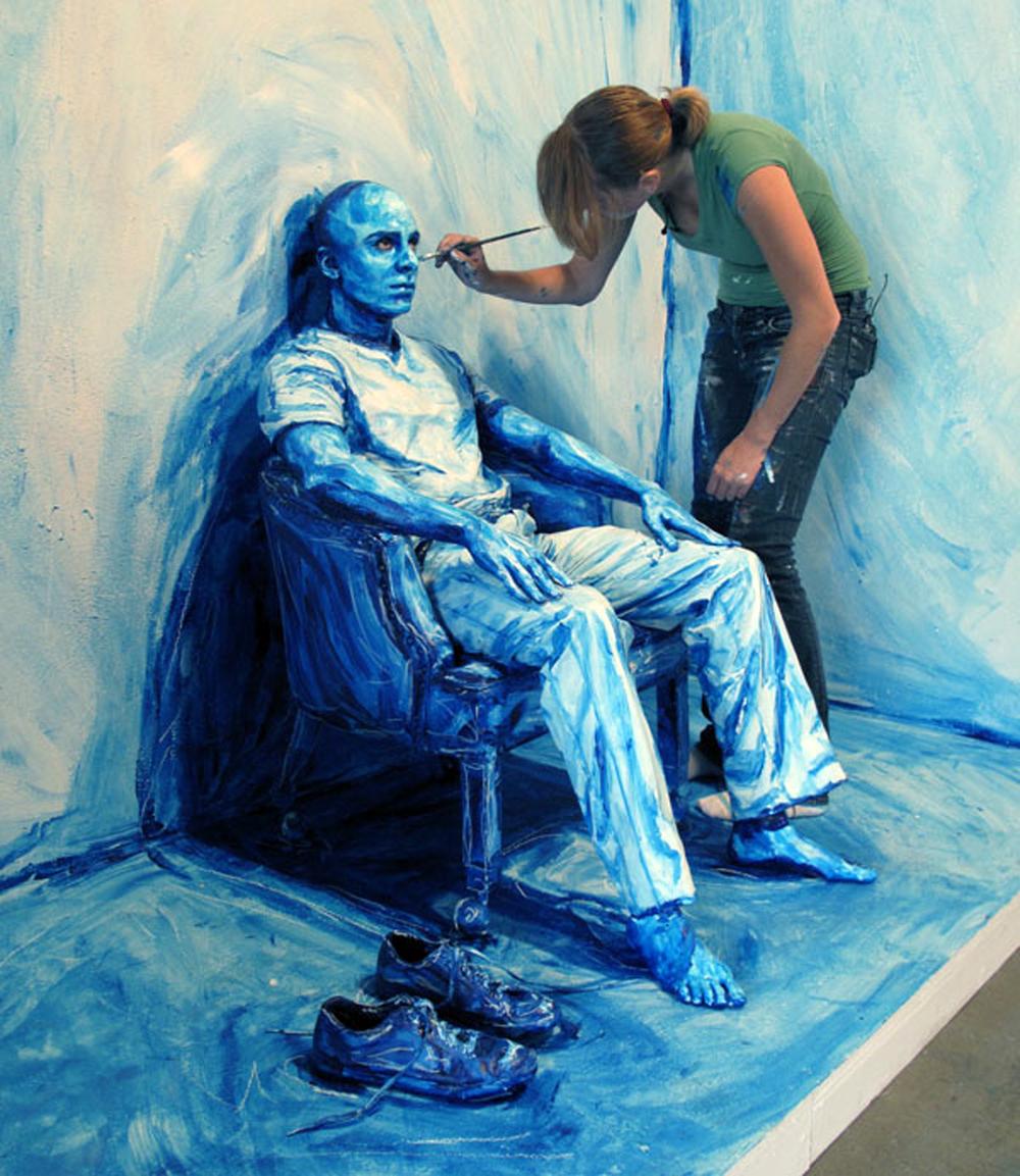 ნატურმორტი, რომელიც ცოცხალია, ალექსანდრა მიდის შემოქმედება, Alexa Meade, ხელოვნება, ქველი, art, Qwelly