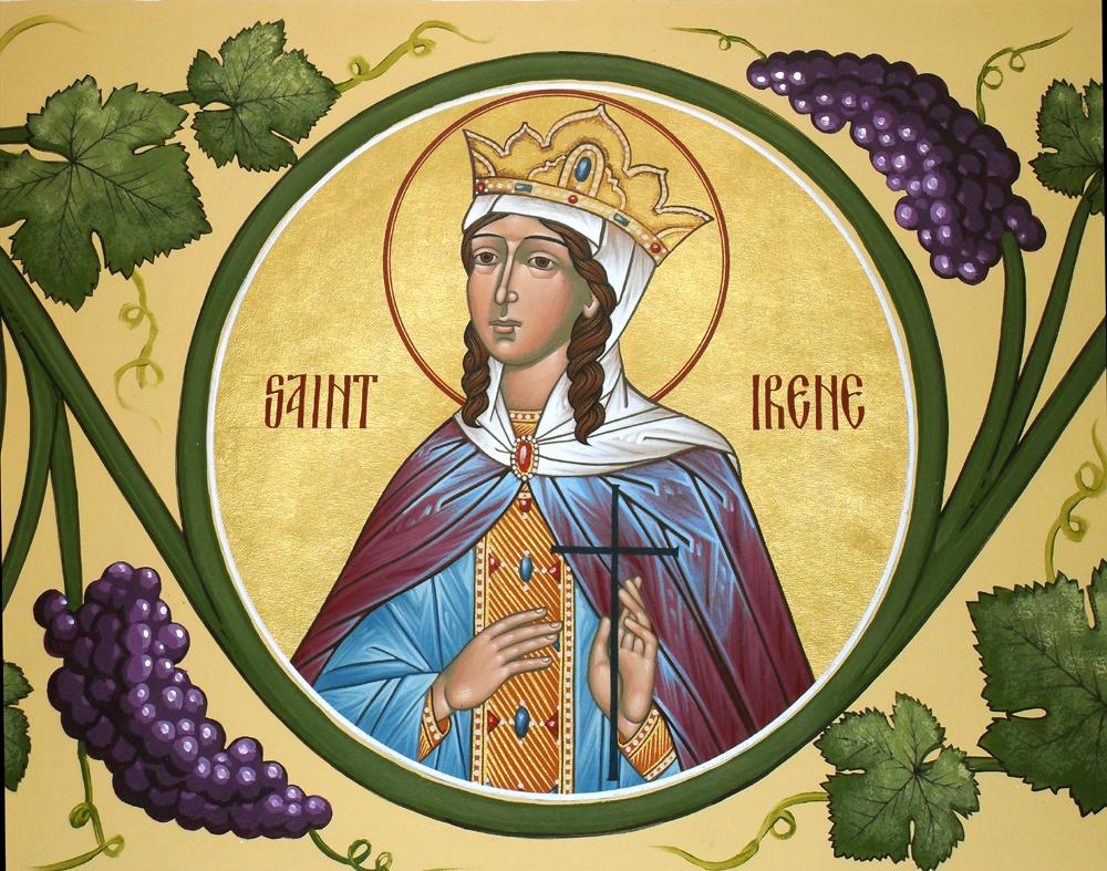 წმინდა მოწამე ირინე, წმინდათა ცხოვრება, თვენი, მაისი, ქველი, qwelly, may