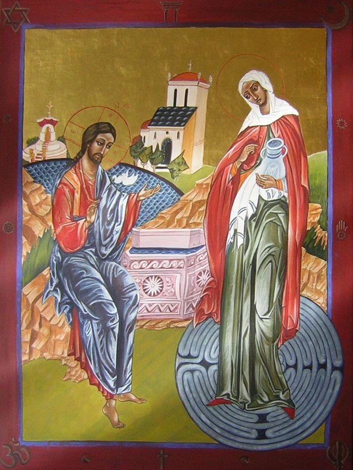 იესო ქრისტე და სამარიტელი ქალი