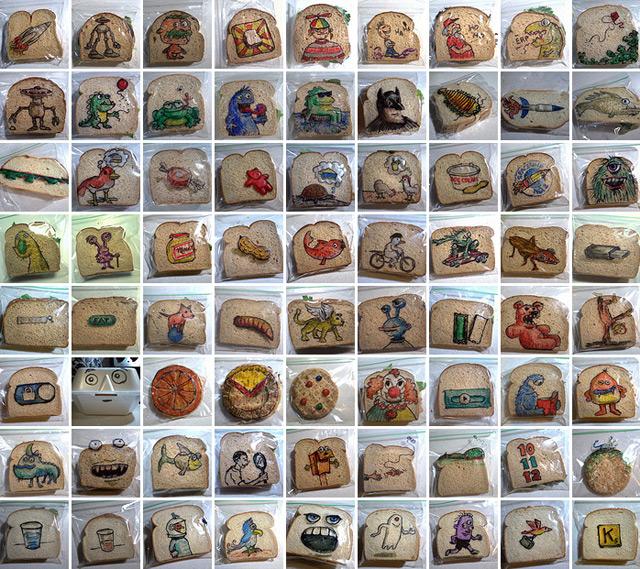 sendvichis gaformeba, art, children, Qwelly, sandwich, ბავშვები, ილუსტრაცია, სენდვიჩი, ხელოვნება