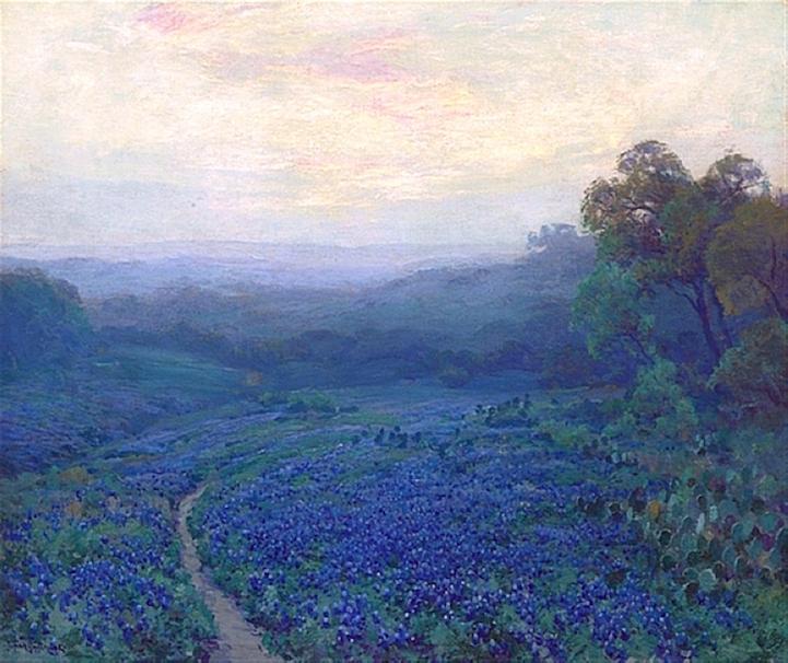 breathtaking, impressionist, julian onderdonk, painting, qwelly, texas, art, impressionist, painter, painter, ინპრესიონიზმი, ინპრესიონისტი მხატვარი, ხელოვნება, მხატვრობა, ტეხასი, ამერიკა, ლურჯი