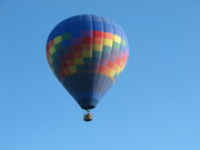 hot air balloon from our back deck