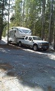 Mary Kay's RV spot in Old Faithful in Yellowstone National Park for 2012