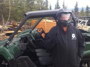 Leo - getting ready for work as a ATV guide.....