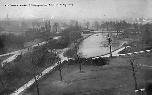 Aerial View Of Finsbury Park, circa 1906