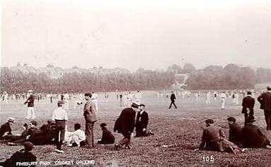 Cricket Ground, Harringay, 1904