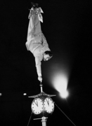 Stunt performer at Harringay Circus, 1948