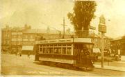 Tram at Spouter's Corner, Wood Green
