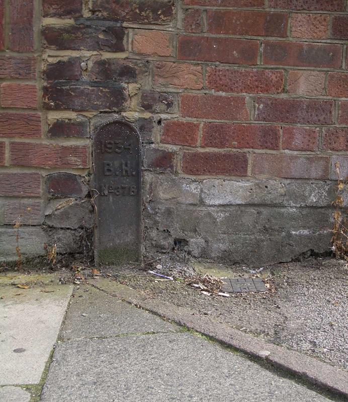 Hornsey-Tottenham Boundary Marker on Seymour Road