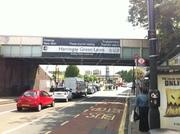 New Banner on north side of Harringay Bridge 13th June 2011