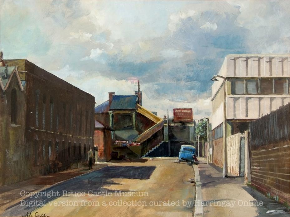 Hornsey Station from Hampden Road1970s
