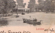 Finsbury Park The Lake - detail showing the Refreshment Room
