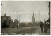 St Michael's Church & Jolly Butcher's Hill, Wood Green, circa 1900