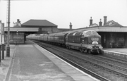 Hornsey Station (with Flying Scotsman) 1962