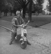 Cool dude in Finsbury Park 1967 - Vespa bought for £6