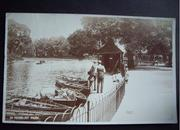 Refreshments and boating in Finsbury Park