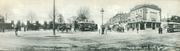 Horse-drawn Meets Mechanical - Manor House Panorama, c1905