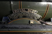 The Royal Scot's somewhat wordy nameplate