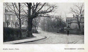 Woodberry Down at the Junction with Lordship Road c1930