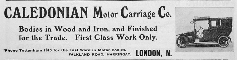 Caledonian Motor Carriage Company, Falkland Road