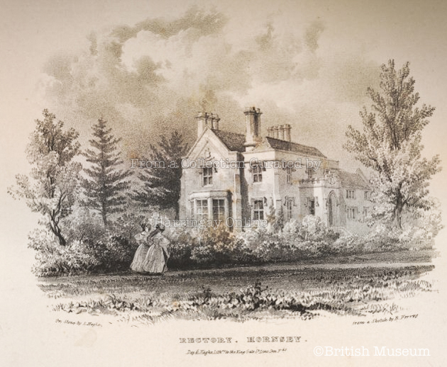 The Rectory Hornsey, c1850