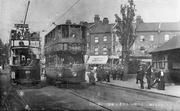 Trams at Spouters Corner c1905