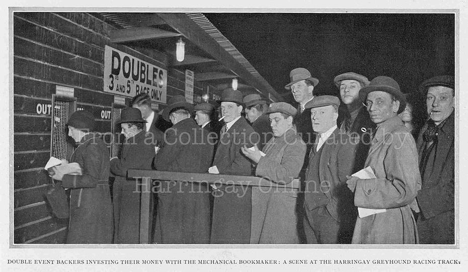 Queueing to Bet at Harringay Stadium, 1932