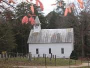 Cades Cove Methodist Church in late Fall
