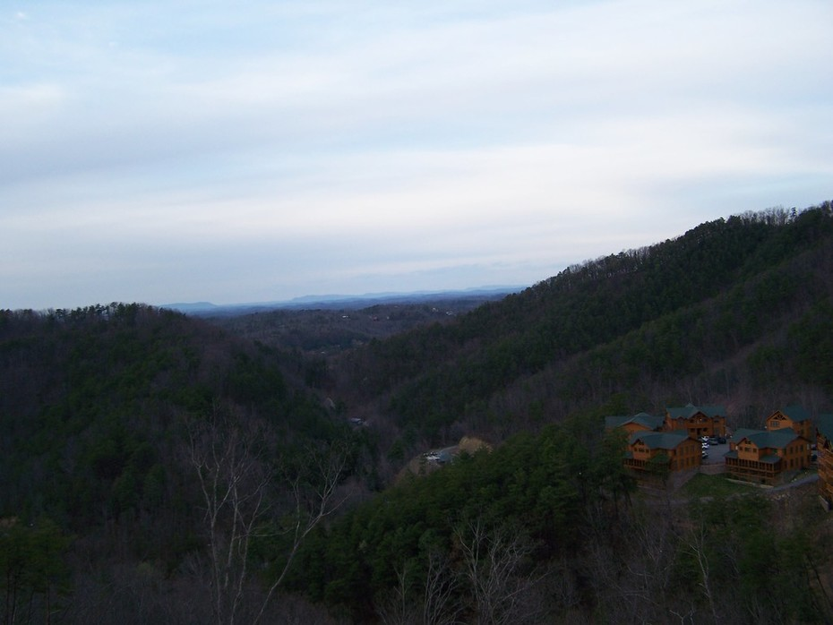 View from a Wears Valley cabin