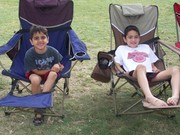The boys at our family camping trip