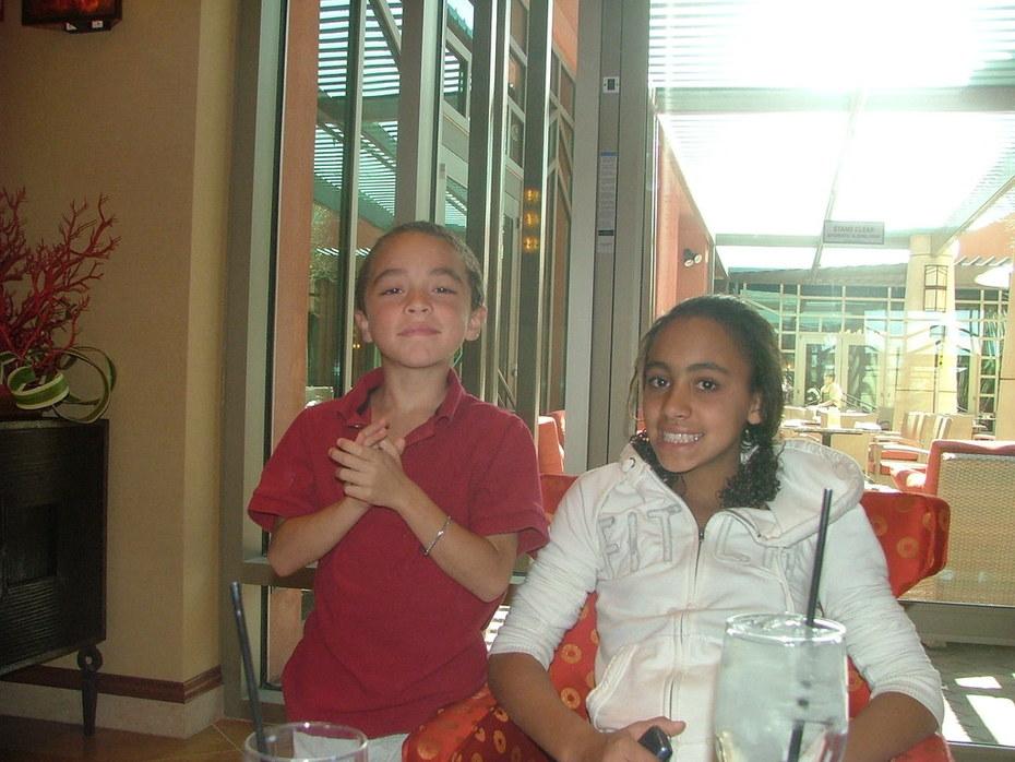 Chloe and Elijah in Phoenix for Mom's graduation