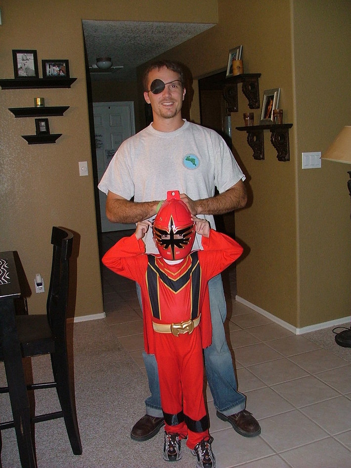 Elijah and Dad in costume