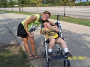 Mom and Nick at Chicago Marathon 10-8-07 (1)