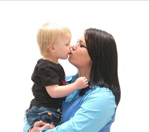 Logan kissing Morgan
