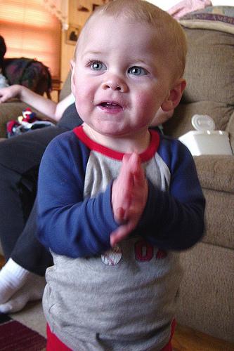 Logan clapping