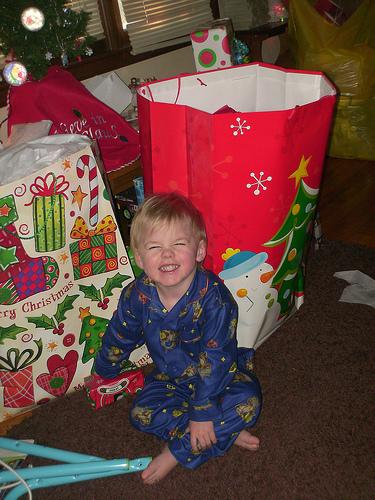 Logan smiling big!!