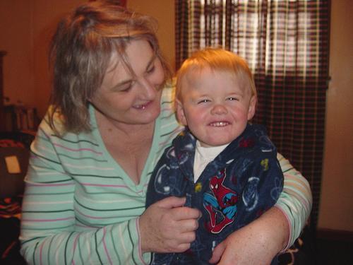 Logan with Grandma