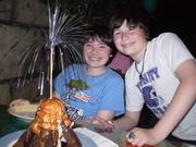 Brandon & Evan with a Volcano