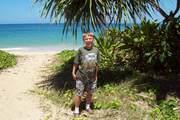 Justin at a Beach on the North Shore of Hawaii
