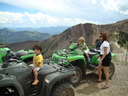 08 AUGUST Connor and Austin on 4 Wheeler at 11000 feet at Snowbird GOOD