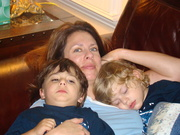 10 OCTOBER Austin sleeping and Connor Chilling Mommy 4 GREAT GREAT CLOSE