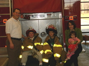 Us at the local fire dept getting some shots in