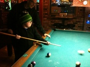 Billys 1st attempt at pool!