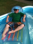 Livin large at the BIP (Billys inflatable pool)