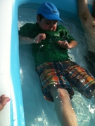 Billy making water muscles 7-4-12